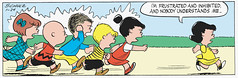 I'm frustrated and inhibited and nobody understands me (Tom Simpson) Tags: illustration vintage comics peanuts 1954 1950s angry comicstrip charliebrown charlesschulz frustration frustrated inhibited charlesmschulz lucyvanpelt newspapercomics