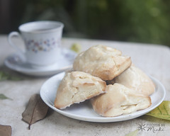 Scones and Tea (Photos By Michi) Tags: food breakfast baking lemon tea outdoor pastry scone teacup