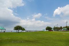 Laketown on Lake Pontchartrain - Kenner, Louisiana (Tony Webster) Tags: sky lake us louisiana unitedstates kenner greengrass lakepontchartrain laketown