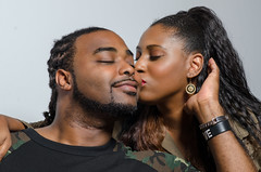ISH Kiss (ishjusmusic) Tags: love army kiss couple marriage romance ish fatigue ishmusic