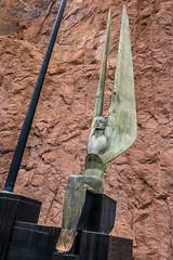 Art Deco Sculpture Near Hoover Dam (Serendigity) Tags: sculpture usa hooverdam desert dam nevada engineering coloradoriver arizona unitedstates