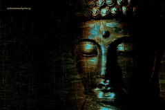 "PIECE COMES FROM WITHIN, NOT LOOK OUTSIDE. ""Buddha"" (Viktor Manuel 990) Tags: buddha buda digitalart artedigital sculpture escultura quertaro mxico victormanuelgmezg blackbackground night"
