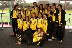 Medals_ (58) (Chris J. Bartle) Tags: girls hockey bronze place state under australia womens medal national nsw western april third newsouthwales wa match 16 championships 18 3rd 2015