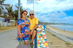 Natal - RN - Brasil (Mrcio Costa Lima) Tags: blue sea brazil sky woman sun man sol praia beach rio azul brasil natal mar grande sand do fuji areia orla mulher cu wife fujifilm casal homem norte nordeste x100