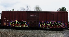quirk - payme (timetomakethepasta) Tags: train graffiti ns norfolk southern boxcar freight dme ltw eka quirk wbb payme