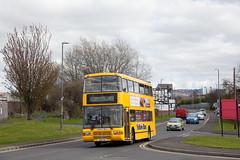 GAT_224 (Stuart's Transport) Tags: uk bus 45 yellowbus dunston doubledeck gonortheast 3814 volvoolympian northerncounties palatineii palatine2 s814fvk nebuses