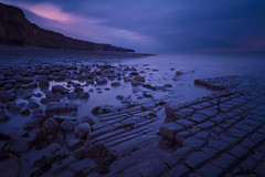 Taking The Rough With The Smooth (RattyBoots) Tags: longexposure southwales canon twilight 7d manualfocus wetfeet canon1022 heritagecoast bigstopper