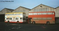 Midland Red East 2772 Wigston Depot (TonyW1960) Tags: midlandredeast daimler fleetline londontransport dms d16 wigstondepot nationalbuscompany nbc 2772