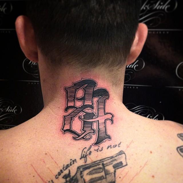 #darksidetattoosociety #dsts #darkside #darksidetattoo #letterstoliveby #typeverything #lettering #customlettering #ink #tattoo #handmadefont #tattoosofinstagram #script #tattooed #type #art #letters #tattooart #handtype #typeverything #chicano #letters #