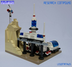 04_Monorail (LegoMathijs) Tags: blue scale station wheel dark lego space platform tan tire landing astronauts micro scifi spaceship trans monorail technique base sattelite miners moc studless futuron legomathijs