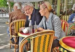 2015-05-25   Paris - Philippe Duclos et Marie Matheron - Café Le Rostand (P.K. - Paris) Tags: paris café french terrace may terrasse mai engrenage 2015 jugeroban