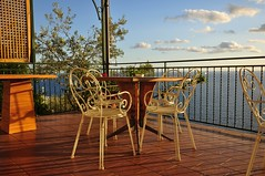a wonderful light (friedrichfrank1966) Tags: light licht colorful meer view chairs terrasse sthle meerblick