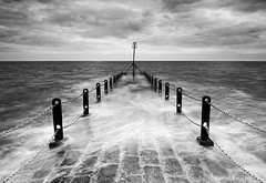 Chain-Gang (petefoto) Tags: sea bw clouds sussex chains brighton walkway lee posts filters cobbles outlet chaingang navigationalaid nikond810 bestcapturesaoi elitegalleryaoi