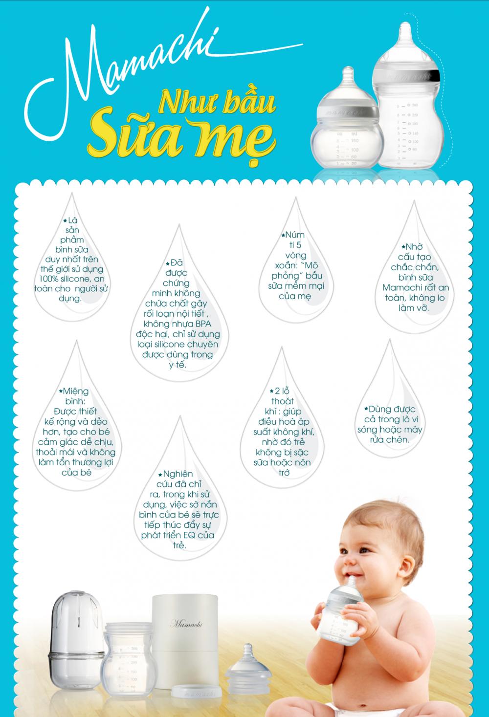 Kinh nghiệm chọn bình sữa cho trẻ bú ngoan.
