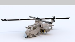 AH-1Z Super Cobra (TheRookieBuilder) Tags: lego render aircraft military helicopter ldd supercobra legodigitaldesigner ah1z bluerender