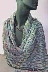 shibori shawl1 (Zip Eye) Tags: textile handwoven handwovenshibori