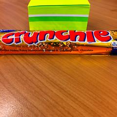 Crunchie bar with note paper (garydlum) Tags: chocolate au australia phillip australiancapitalterritory
