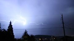 Lightning Storm Over Vancouver (bcfiretrucks) Tags: canada storm weather night vancouver dark photography tv video media bc columbia screen photograph bolt burnaby british lightning grab thunder freelance stringer severe wx