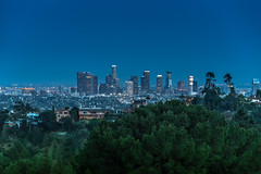 Fly by Night. Los Angeles, CA (DTG Photography) Tags: california skyline night landscape los glow angeles southern