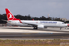 Turkish Airlines --- Boeing 737-800 --- TC-JVP (Drinu C) Tags: plane aircraft aviation sony boeing dsc turkish 737 mla 737800 turkishairlines lmml hx100v adrianciliaphotography tcjvp