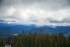 Cascade Range (Herculeus.) Tags: usa lake snow mountains clouds oregon or may volcanoes peaks cascaderange 2016 5photosaday mthoodandtimberlinelodge