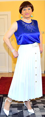 Birgit022064 (Birgit Bach) Tags: top skirt pleated faltenrock