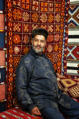 Chefchaouen rug merchant (collinsad2015) Tags: morocco chefchaouen bluecity chacune