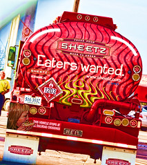 Eaters Wanted (creepingvinesimages - struggling to keep up!) Tags: red truck outdoors nikon delivery tanker sheetz topaz htt restyle d7000 pse14 gashauler