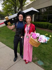 Zack and Aerith (blueZhift) Tags: anime comics costume illinois cosplay manga rosemont videogames convention zack finalfantasy acen 2016 aerith animecentral