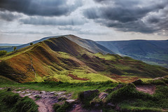 Lord's Seat from Mam Tor (paulnadin) Tags: desktop uk wallpaper sunlight west color green contrast outdoors high view district 4 north scenic peak hills cc valley pro nik mp lush tonal edale lightroom castleton preset efex