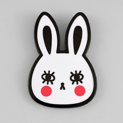 My new White Rabbit pins available now @badge_bomb!  (Andrea Kang) Tags: white cute rabbit bunny design pin lashes pins kawaii lapelpin enamelpin pingame badgebomb andreakang instagram ifttt