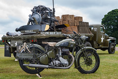 BSA M20 motorbike and aircraft spares on a truck (Beth Hartle Photographs2013) Tags: cars wwii 1940 historic triumph athome motorbikes reenactment aircrafts bsa militaryvehicles shuttleworthcollection historicaircraft historicbikes bsam20 triumphsd1923