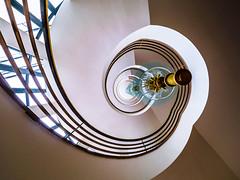 Spiral Staircase - view up (K.H.Reichert) Tags: berlin architecture stairs spiral staircase architektur spiralstaircase spirale wendeltreppe