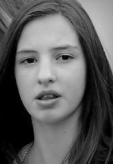 Street Portrait (patrick_milan) Tags: street people blackandwhite bw woman white black girl monochrome noir noiretblanc femme bretagne nb belle britanny rue fille blanc personne streetview gens visage finistre jeune plouguin