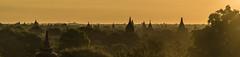 Bagan sunrise 2 (Matt S Dawson) Tags: morning trees sky mist clouds sunrise temple view burma temples myanmar bagan