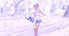 I stand for peace (claudia.anne.rosier) Tags: blue white petals peace dream windy secondlife
