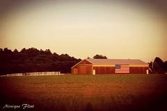 Patriotic Barn (moniquef123) Tags: building barn america countryside flag country rustic americanflag patriotic rur