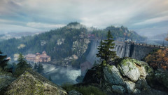 VOEC - 047 (Screenshotgraphy) Tags: sunset sky mountain lake game nature colors architecture clouds contrast montagne landscape pc screenshot lumire couleurs country lac ethan steam gaming ciel beaut carter concept nuages paysage vanishing campagne beautifull jeu naturelle urbain