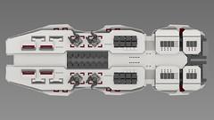 vesta5 (essaych) Tags: lego spaceship spacecraft battleship render homeworld space