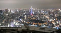 Tokyo tower covered by light fog2 (sapphire_rouge) Tags:   sculpture  darkness   girl night tokyotower japanese yukata tokyo   metropolitan nightview roppongi shinjuku  japan expressway  nighview illumination lady
