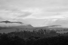 Pitlochrie 060816 (simonknightphotography) Tags: pitlochrie perthshire scotland highlands mountains mists cloud ben vrackie