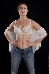 I am Woman - Hear me ROAR (Dana Brady) Tags: pentax wonderwoman blouse white jeans lace stand strong beautiful