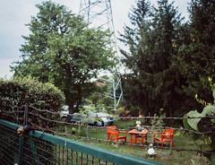 wired (Stephan No) Tags: 2016 august berlin karlshorst kleingarten pentacon29f28 strom wired canoneos6d zaun garten auto car bume trees vsco vscofilm