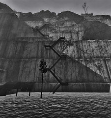 Fallout 4 (ADinvom) Tags: fallout 4 fallout4 black white screenshot screen monochrome outdoor water bw girl land postapocalypse game gaming