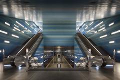 go underground (GER.LA - PHOTO WORKS) Tags: hamburg ubahn underground subway metro architecture blue