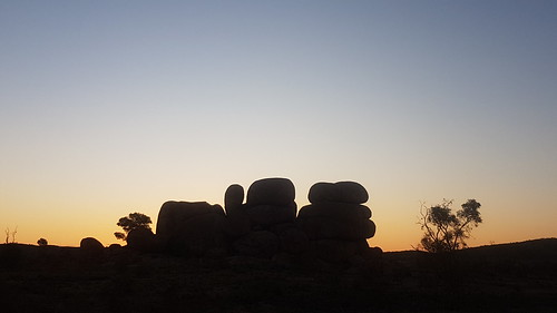 The Devils Marbles at sundown