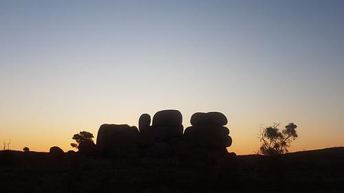 The Devils Marbles at sundown