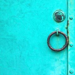A Company of Circles (traumatrigger) Tags: lock turquoise security ring keyhole iphonography