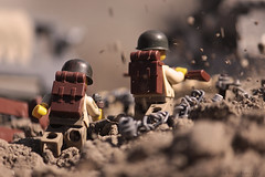 No Man's Land (Kyle Hardisty) Tags: world 2 two kyle soldier wire war flickr lego fig wwii american minifig custom barbed moc minifigures brickarms hardisty hbhscontest
