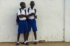 DSC_1112 (Will Margett Photography) Tags: sierraleone africa ebola school children kids blue freetown topv555